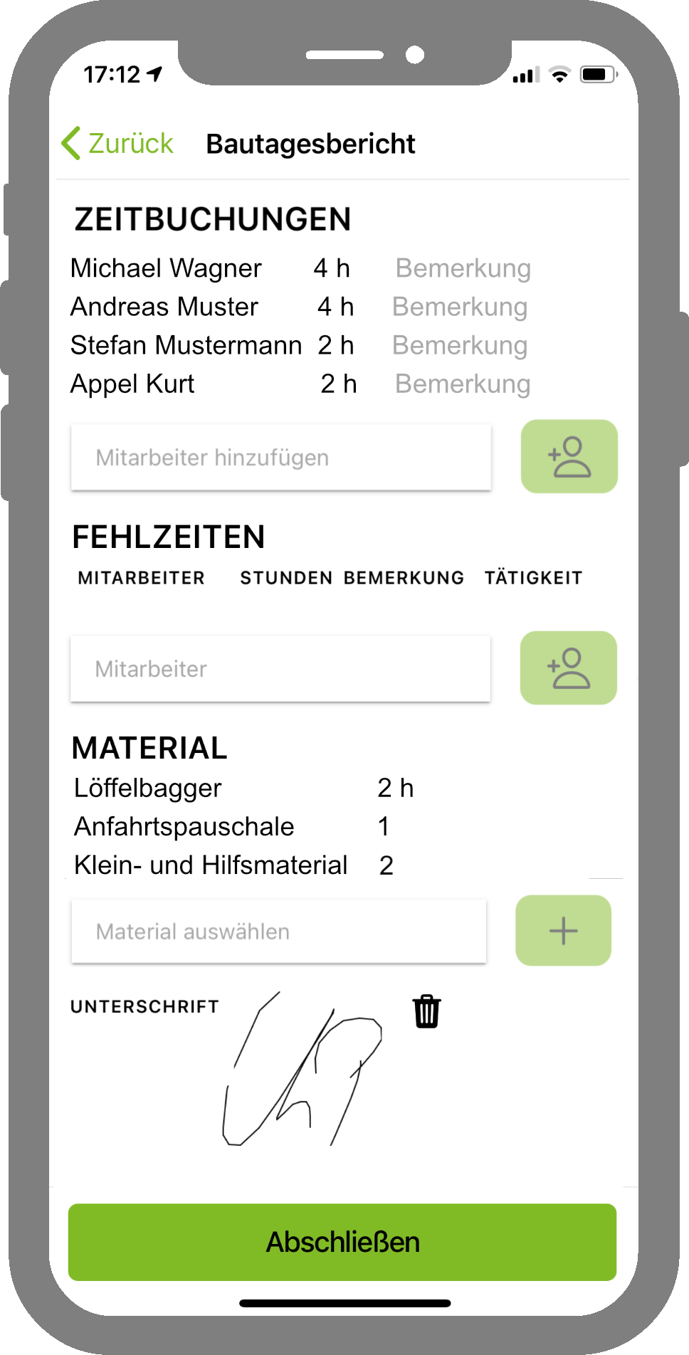 Bautagesberichte in der IMS.app erstellen