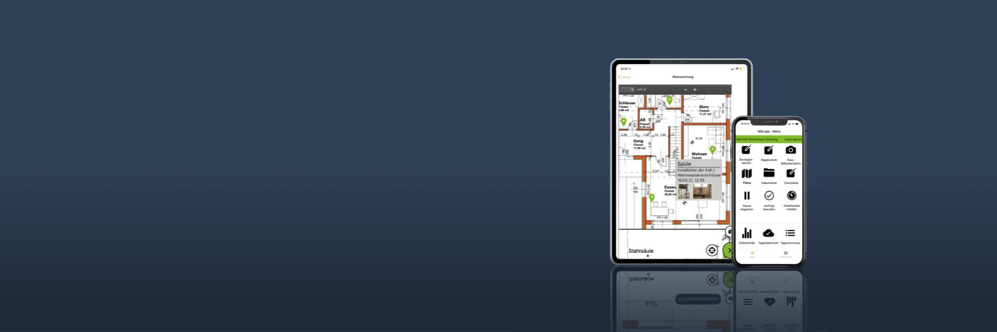 IMS.app auf Smartphone und Tablet